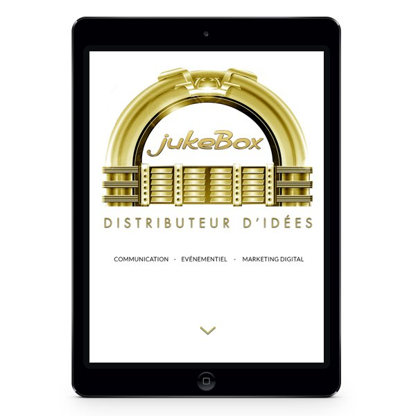 Création site Internet responsive JukeBox par Dreampix communication Antibes