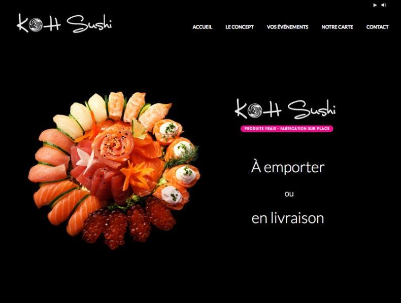 Création site Internet Koh Sushi Golfe-Juan par Dreampix communication Antibes