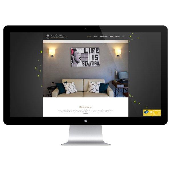 Création site Internet Le Collier par Dreampix communication Antibes