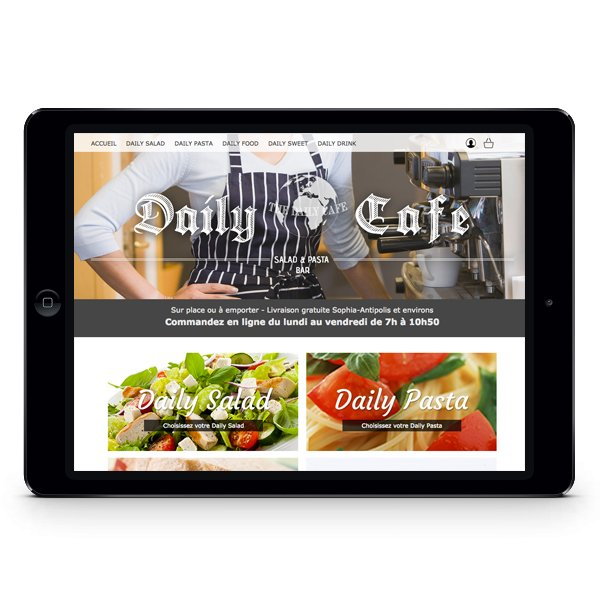 Création site Internet e-commerce The Daily Cafe par Dreampix communication Antibes