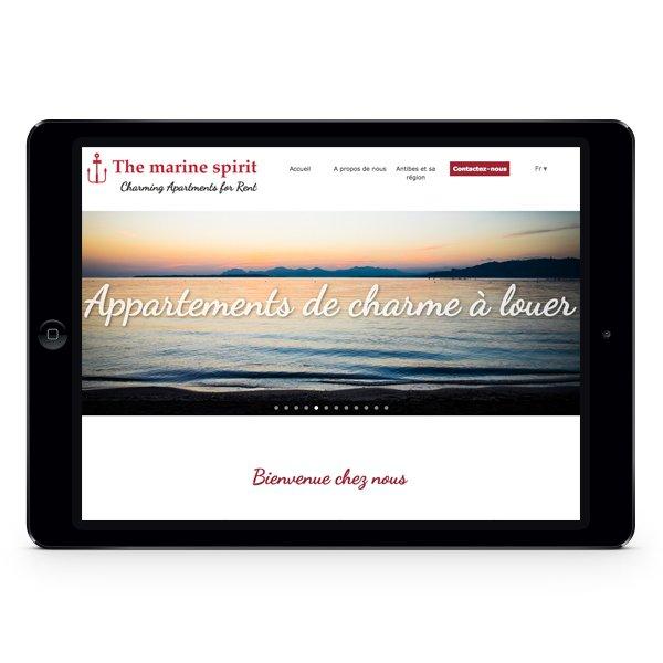 Création site Internet The Marine Spirit par DreamPix communication