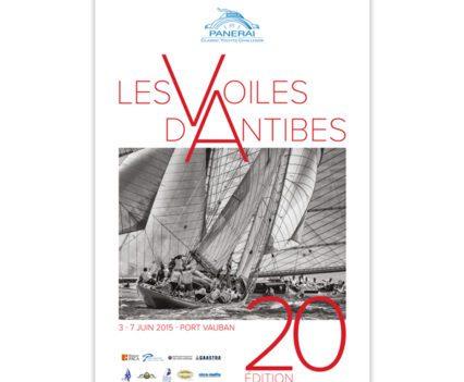 Création graphique - impression affiche Les Voiles d'Antibes 2015 par Dreampix communication Antibes