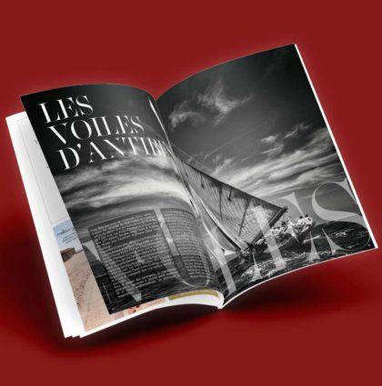 Voiles d'Antibes 2018 - Création graphique et impression du magazine par DreamPix communication Antibes