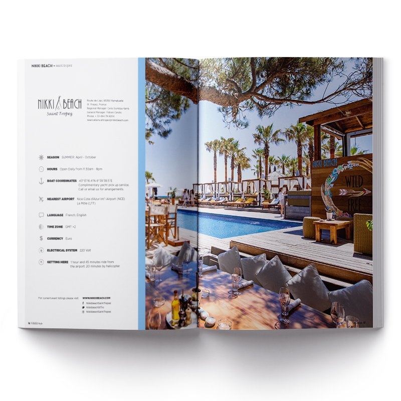Impression magazine Nikki Beach - Dreampix communication Antibes