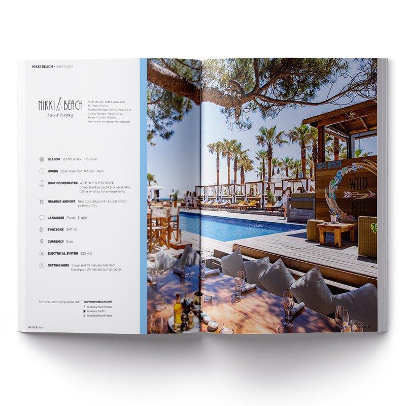 Impression magazine Nikki Beach - Dreampix communication Antibes