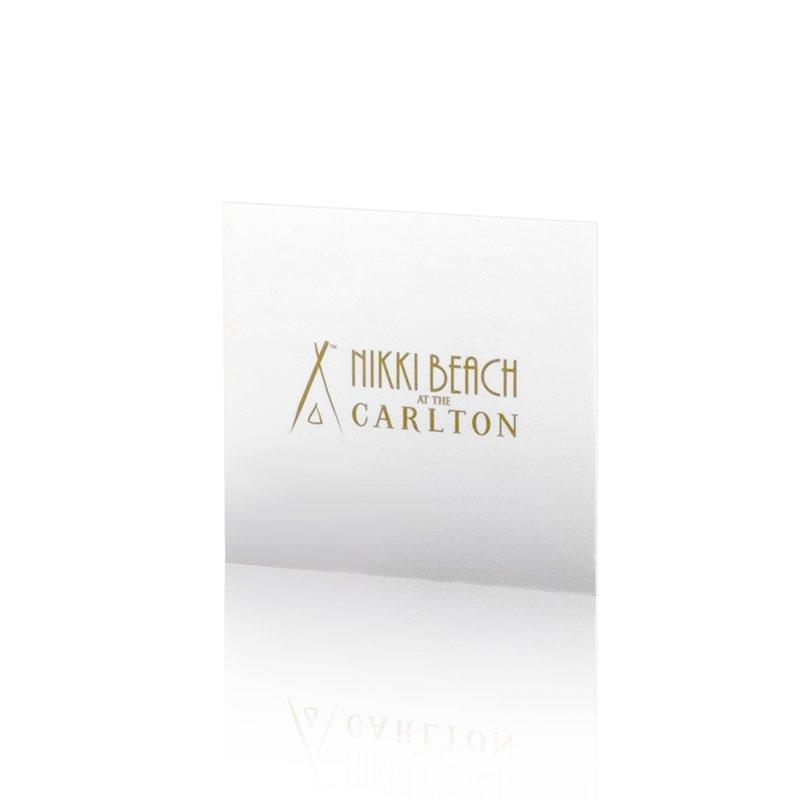 Impression cartes de visite Nikki Beach - Dreampix communication Antibes