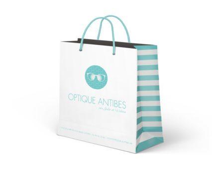 Optique Antibes - Création graphique - Packaging sacs - Dreampix Communication Antibes