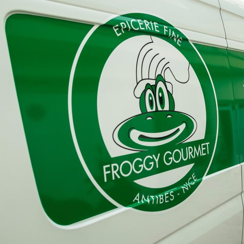 Habillage véhicule Froggy Gourmet - Signalétique par DreamPix communication Antibes