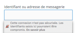 Connexion non sécurisée Firefox