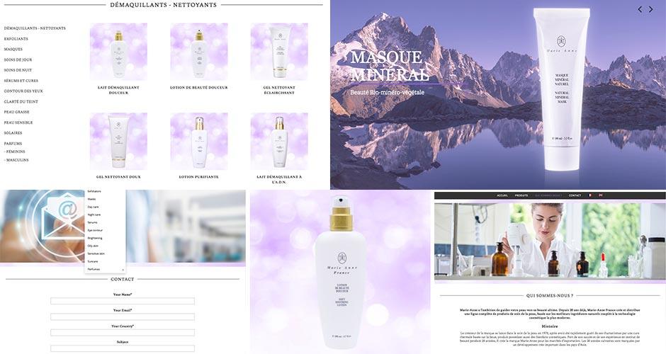 Marie Anne France - Création de site internet cosmétiques Dreampix à Antibes