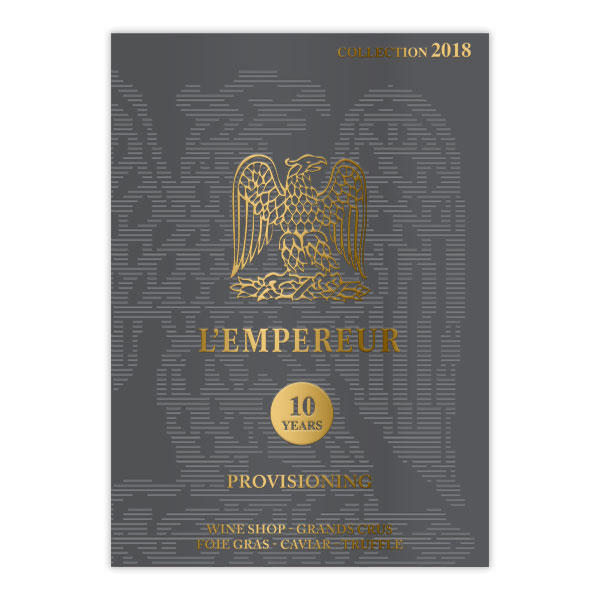 L'Empereur - création graphique et impression catalogue 2018 par DreamPix communication, Antibes