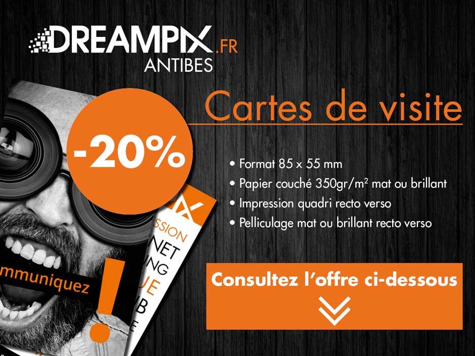 PROMO DREAMPIX 20 Sur Limpression De Vos Cartes Visite