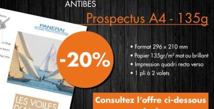 Offre impression prospectus A4 janvier 2019 Dreampix Antibes