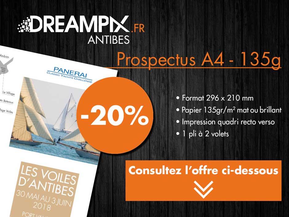 PROMO DREAMPIX : -20% sur l'impression de vos prospectus A4 recto-verso !