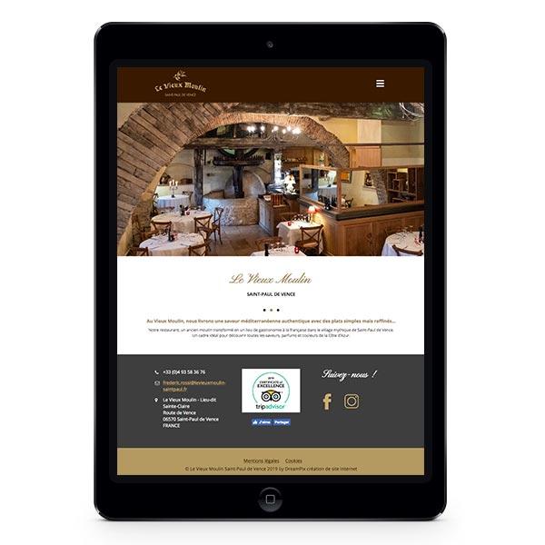 Création site Internet responsive Le Vieux Moulin Saint-Paul de Vence par DreamPix