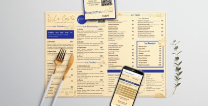 Set de table QR Code restaurant La Casita - DreamPix communication