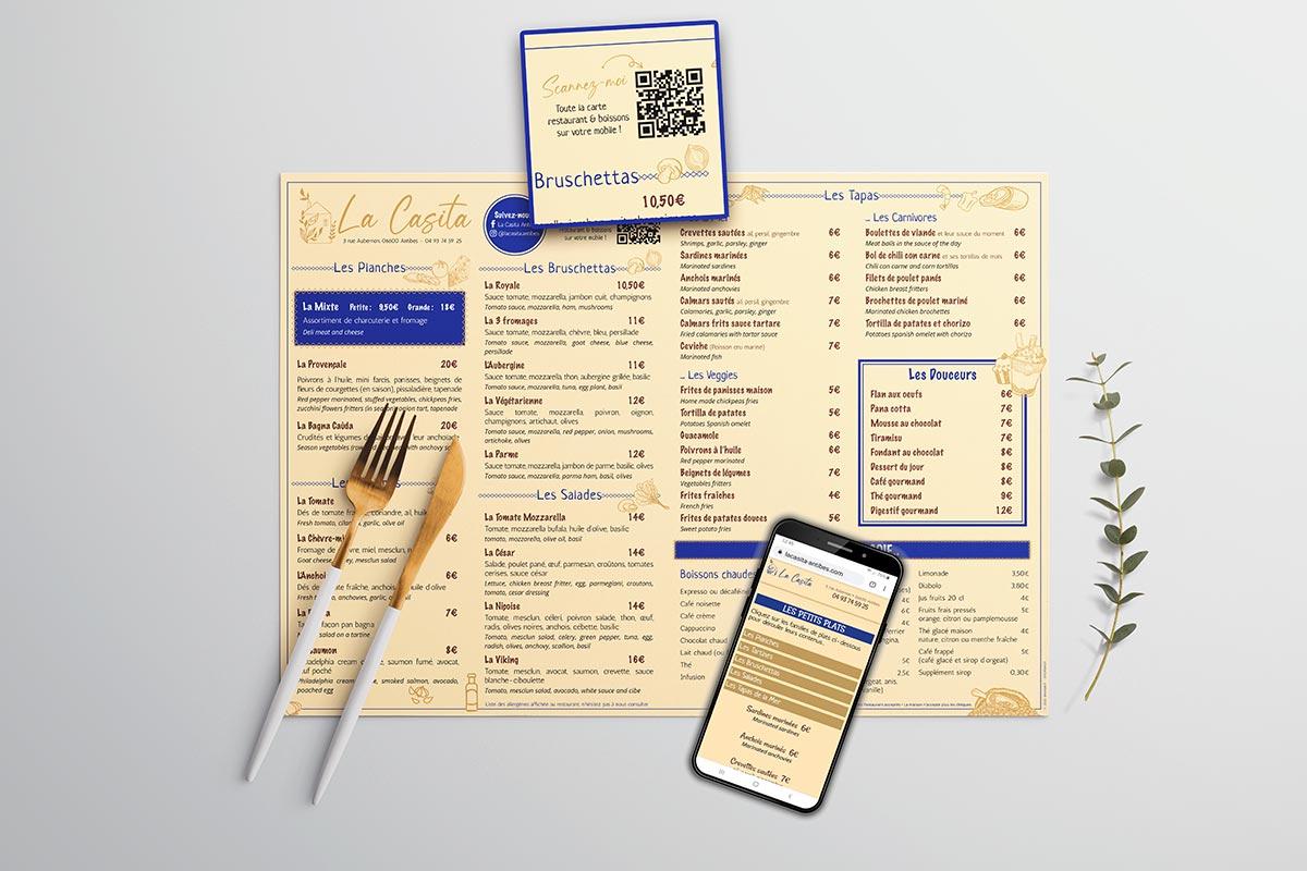 CHR : votre menu en ligne avec qr-code