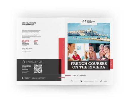 Impression brochure Antibes Dreampix