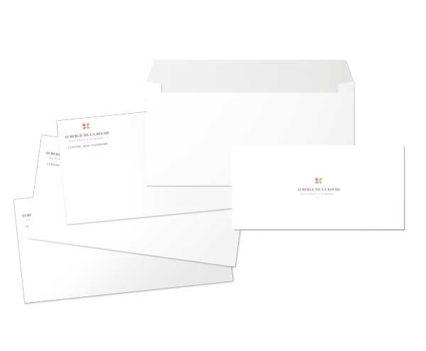 Création et impression documents en-tête Auberge de la Roche - DreamPix communication Antibes