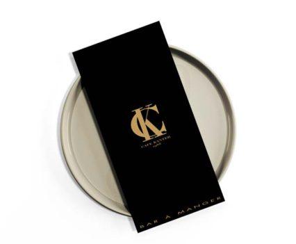 Création et impression menu restaurant Café Kanter Antibes - DreamPix communication Antibes