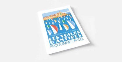 Création et impression magazine 2020 Les Voiles d'Antibes - DreamPix communication Antibes